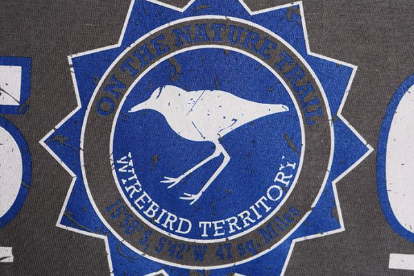 St Helena T-shirt with Wirebird Territory design