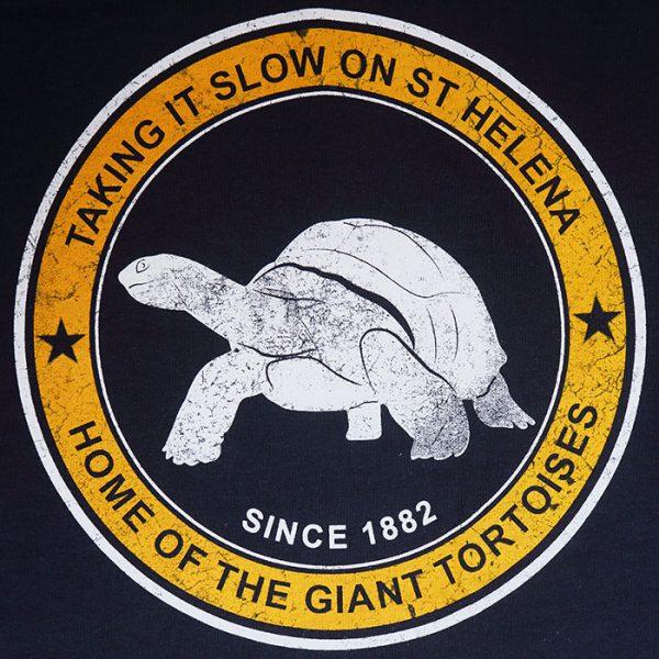 Tortoise design on St Helena t-shirt