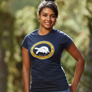 Ladies Aldabra St Helena t-shirt with giant tortoise